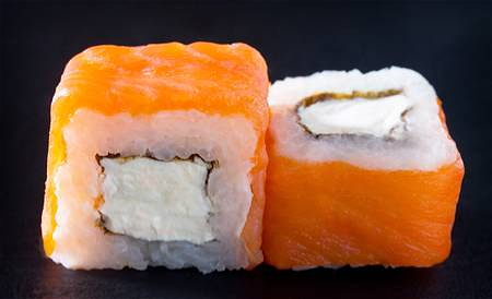 Foto Solf shell zalm chesse roll